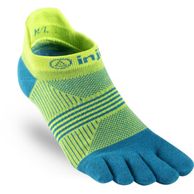 Injinji Run Coolmax Xtra Lightweight No Show Socks Women neon green / turq